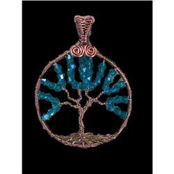 Swarovski Crystal & Copper Wire Tree of Life Pendant