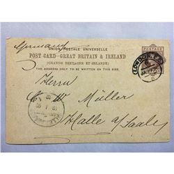 1890 London Original Postmarked Handwritten Post Card