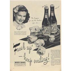 1945 7UP Happier & Lovelier Magazine Ad