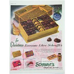 1955 Schrafft's Chocolates Magazine Ad