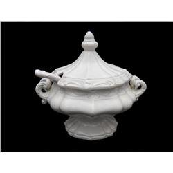 Ornate Victorian Italian Cream Ceramic Tureen