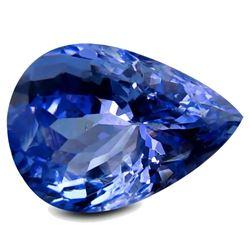 3.29 ct PGTL Certified Natural Purplish Blue Pear Shaped Tanzanite Gemstone