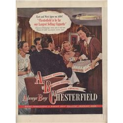 1947 Chesterfield Cigarettes Nightclub Ad