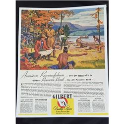 Vintage Gilbert Papers American Explorers Ad