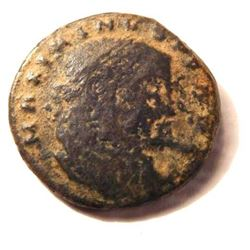 Bronze Coin Of Maximinus II: 305-313 A.D.