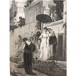 1880's Photogravure Print, Ancient Pompeii