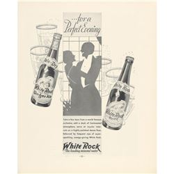 1939 White Rock Mineral Water Ginger Ale Ad
