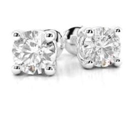 0.10 CT. T.W. L-I1 ROUND CUT DIAMOND STUD EARRINGS