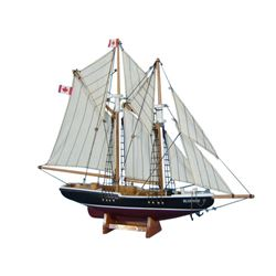 Wooden Bluenose Model Sailboat Decoration 17""