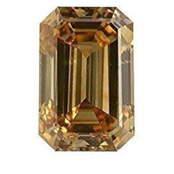 2.5ct Champagne Emerald Cut Bianco Diamond