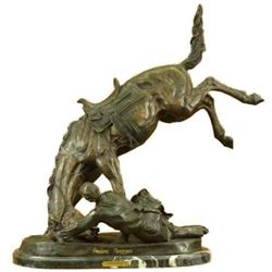 """Extra Large """"The Wicked Pony"""" by Remington Bronze Sculpture Western 85 LBS Deco"""
