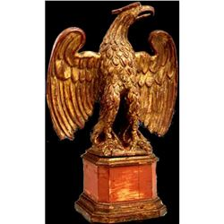 19thc Carved Gilt Wood Table Top Eagle