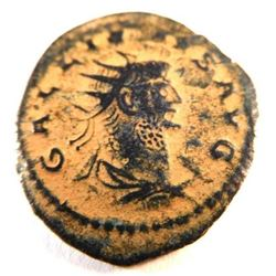 Bronze coin of Gallienus (253-268 A.D.)