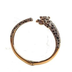 Run Wild Cheetah Open Hinged Bangle Bracelet