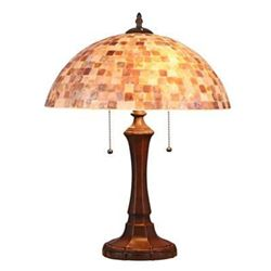 "SHELLEY Mosaic 2 Light Table Lamp 16"" Shade"
