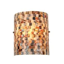 """""""SHELLEY"""" Mosaic 1 Light Wall Sconce 8.3"""" Wide"""