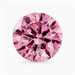 10.5ct Round Brilliant Pink BIANCO Diamond