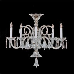 Crystal & Nickel Five Light Bell Chandelier