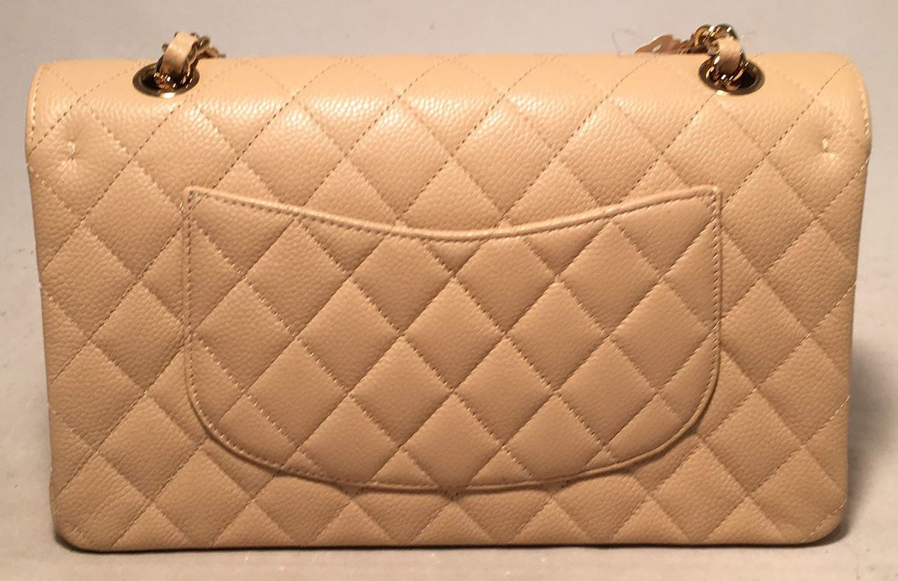 6de784ef0eeb ... Image 2 : Chanel Nude 10inch Quilted Caviar 2.55 Double Flap Classic  Shoulder Bag ...
