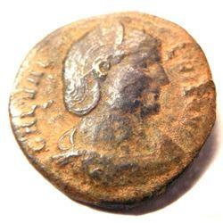 Bronze Coin of Galeria Valeria (wife of Galerius): 293-311 A.D. - Rare