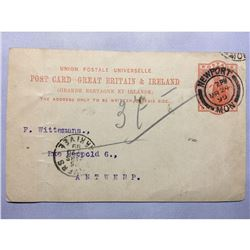 1800s London Original Postmarked Typed Post Card