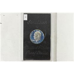 1971- IKE SILVER DOLLAR PROOF (BROWN PACK) NO BOX