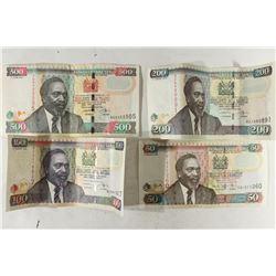 KENYA 2008-50 SHILLINGS, 2004-100 SHILLINGS,
