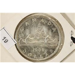 1966 CANADA SILVER DOLLAR BRILLIANT UNC