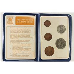 BRITAINS FIRST DECIMAL COIN SET