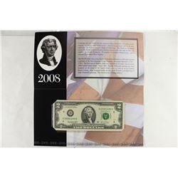 2003-A CLEVELAND $2 SINGLE NOTE CRISP UNC SERIAL