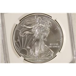 2011 AMERICAN SILVER EAGLE NGC MS70 25TH ANNIV.