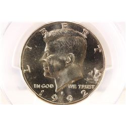 1992-P KENNEDY HALF DOLLAR PCGS MS66
