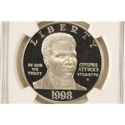 1999-S BLACK PATRIOTS COMMEMORATIVE SILVER DOLLAR