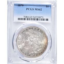 1879 MORGAN DOLLAR, PCGS MS-62