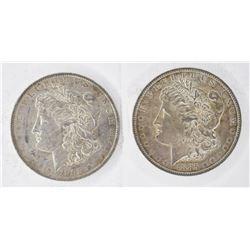 1883-O & 1885-O CH BU MORGAN DOLLARS