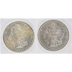 1888 & 1896 CH BU MORGAN DOLLARS