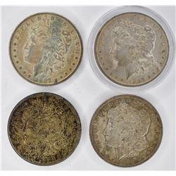 4  XF+ MORGAN DOLLARS: