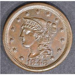1848 LARGE CENT  GEM BU