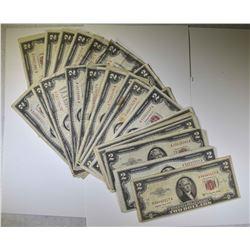 27-$2.00 RED SEAL NOTES 1963 & OLDER