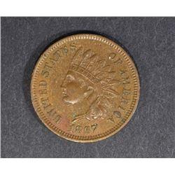 1867 INDIAN HEAD CENT  UNC