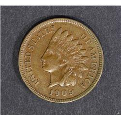 1909-S INDIAN HEAD CENT  AU