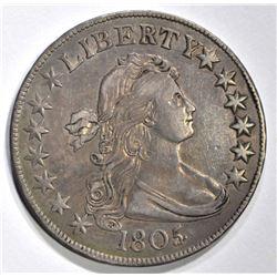 1805/4 DRAPED BUST HALF DOLLAR
