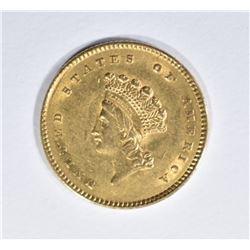 1854 GOLD $1 DOLLAR TYPE 2  BU