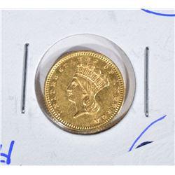 1862 GOLD $1 DOLLAR  CH BU