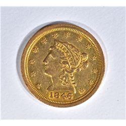 1846-O $2 1/2 GOLD LIBERTY  BU
