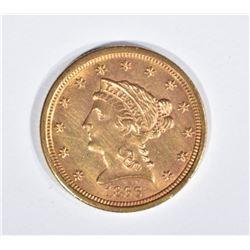 1866-S $2 1/2 GOLD LIBERTY  BU
