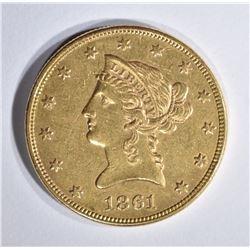 1861 $10 GOLD LIBERTY HEAD  BU
