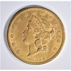 1855 $20 GOLD LIBERTY HEAD  BU