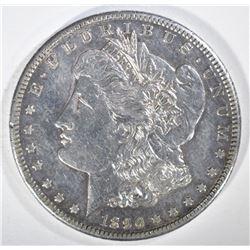 1890-CC MORGAN DOLLAR  AU/UNC