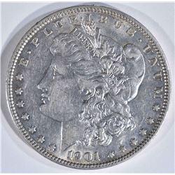 1901 MORGAN DOLLAR  AU/UNC